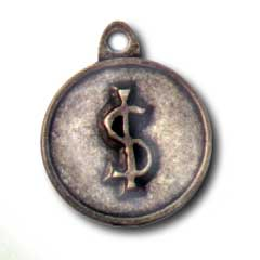 Dollar Sign ID Tag
