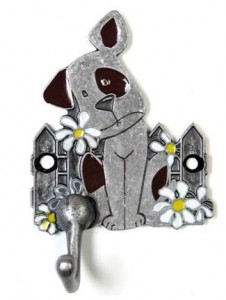 Dog with Daisies Leash Hook