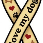 I Love My Dog Ribbon Magnet